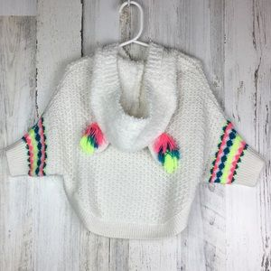 Cat & Jack | Unicorn Rainbow Poncho Knit Hoodie